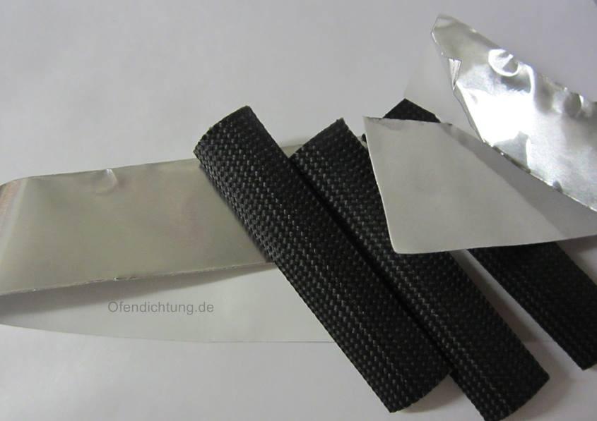Abklebeband für Dichtschnüre aus Aluminium 3 Dichtschnurhülsen