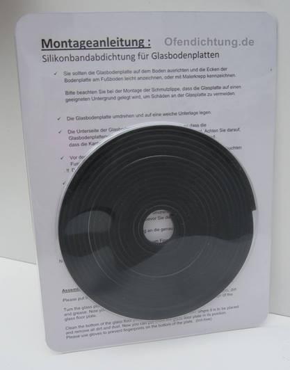 Glasbodenplatte abdichten mit eine Dichtlippe zu montieren auf Laminat Vinyl Parkett Laminat schwarz