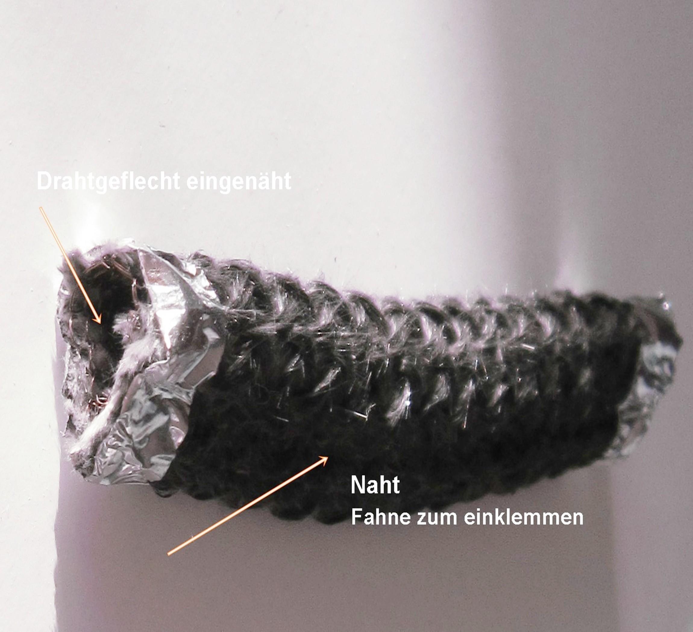 geflochtene Fahnendichtung für Hark Kamine 11mm x 20mm