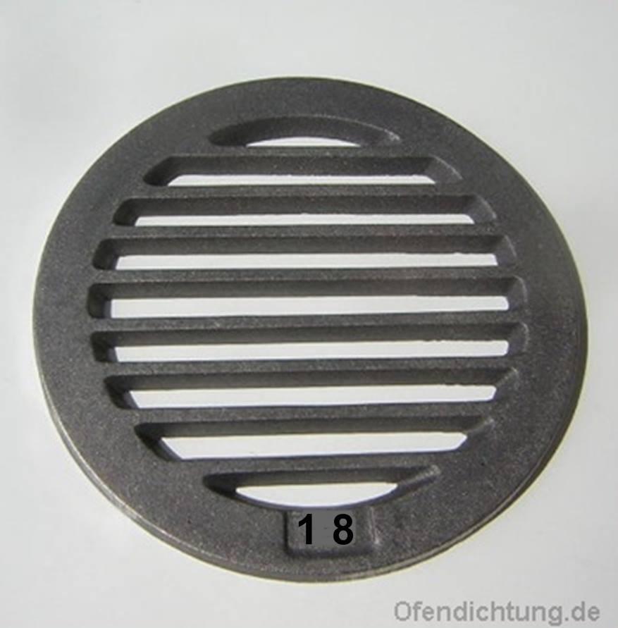 Ofenrost rund Kaminrost Ø 18cm, 20cm, 22cm, 24cm, 26cm Rüttelrost Feuerrost