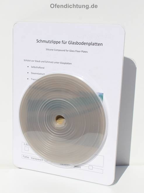 Glasbodenplatte abdichten mit eine Dichtlippe zu montieren auf Laminat Vinyl Parkett Laminat grau