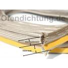 Kaminglas Dichtung mit Klemmfahne Klemmdichtung 6mm Drahtgeflecht
