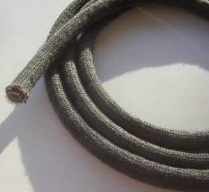 Schlauchdichtung 11mm aus Silikafaser, Hohldichtung Ofendichtung mit Draht Geflecht