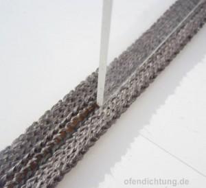 Isolierung für das Kaminglas, 2m Dichtband kaminofenglas 20x3mm selbstklebend kaschiert