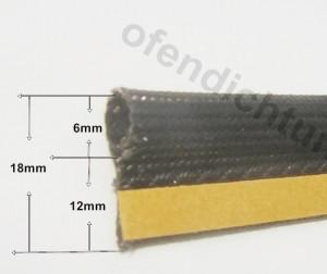 Kaminglasdichtung mit Klemmfahne Klemmdichtung 6mm Drahtschlauch