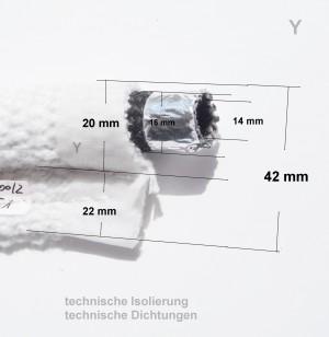 Fahnendichtung mit 16mm Hohlschlauch Trockenofenbau Tunnelofen IOS Wartung