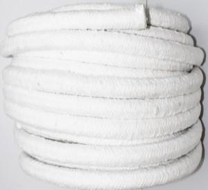 50m Dichtpackung aus Keramikfaser rund geflochten 15mm Glasseele verstärkt