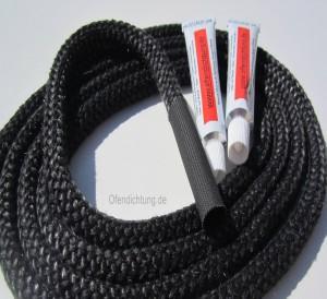 Ofendichtung 10mm mit Verbindungshülse 2 Dichtschnurkleber feuerfest